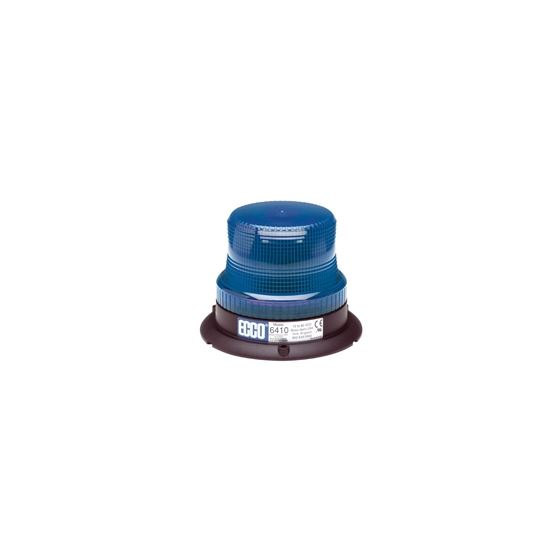 6410B 3-Bolt Blue Low Intensity Rotating Strobe Be