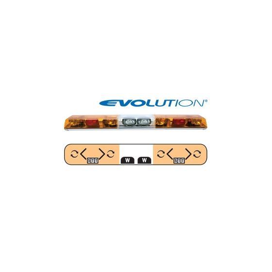 "6543018 54"" Evolution 4-Rotator Amber/Clear/A"