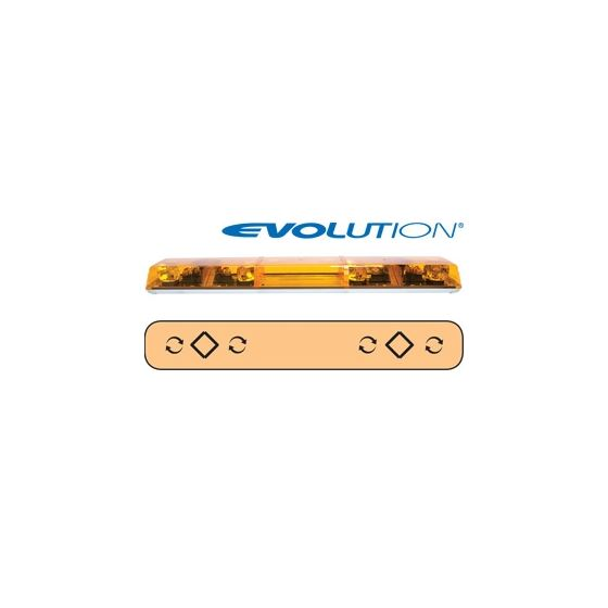 "6483003 48"" Evolution 5-Rotator Amber Lightba"