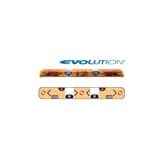 "6605005 60"" Evolution 3-Rotator Amber/Clear/A"