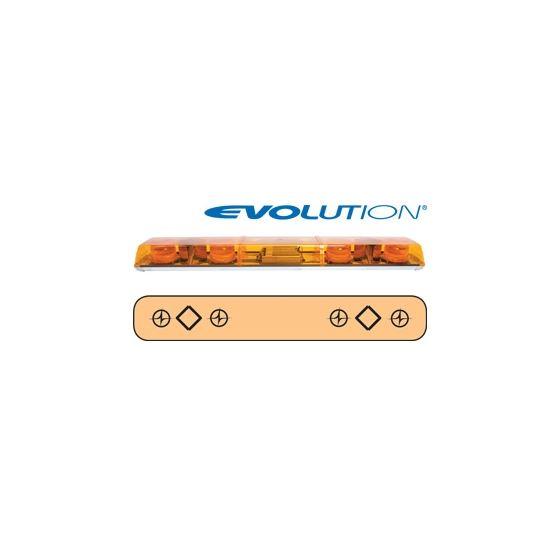 """6483011 48"""" Evolution 4-Strobe Amber Lightbar"""