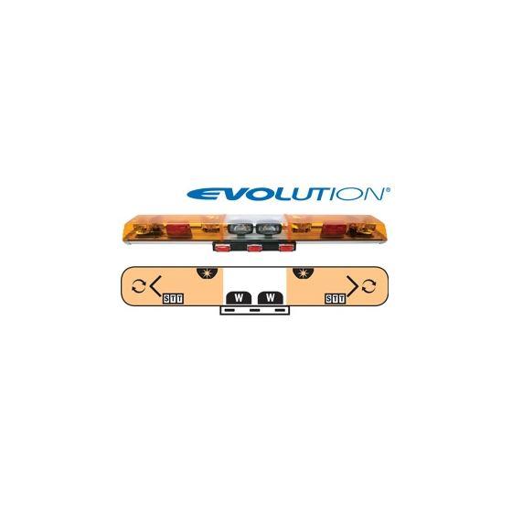 "6543050 54"" Evolution 2-Rotator Amber Lightba"