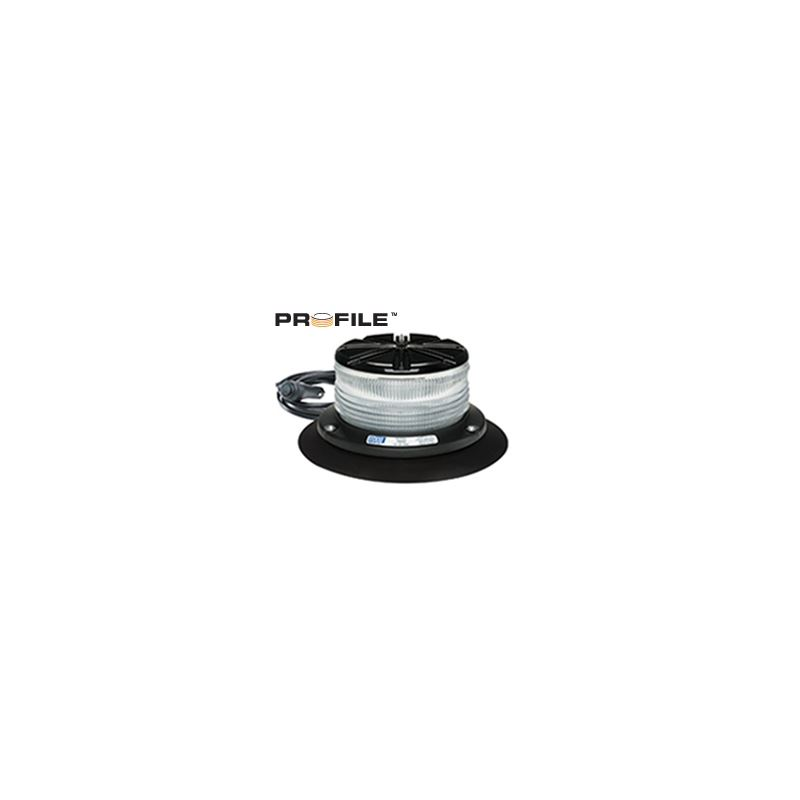 7460CA-VM Vacuum Magnet Profile Clear/Amber Beacon